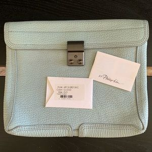 3.1 Phillip Lim light blue cloud Pashli clutch bag